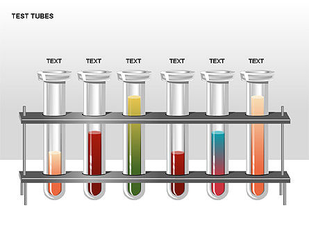 Test Tubes Stage Diagrams, Slide 6, 00316, Stage Diagrams — PoweredTemplate.com