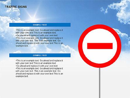 Traffic Signs Diagrams, Slide 10, 00318, Shapes — PoweredTemplate.com