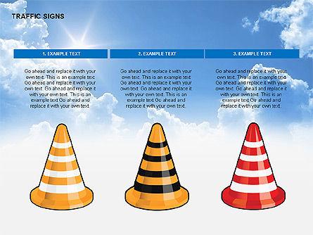 Traffic Signs Diagrams, Slide 12, 00318, Shapes — PoweredTemplate.com