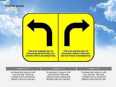 Traffic Signs Diagrams, Slide 13, 00318, Shapes — PoweredTemplate.com