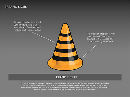 Traffic Signs Diagrams, Slide 14, 00318, Shapes — PoweredTemplate.com