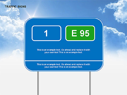 Traffic Signs Diagrams, Slide 15, 00318, Shapes — PoweredTemplate.com