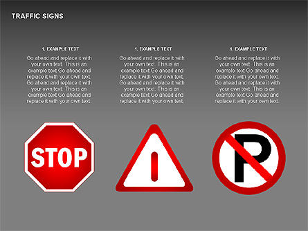 Traffic Signs Diagrams, Slide 2, 00318, Shapes — PoweredTemplate.com