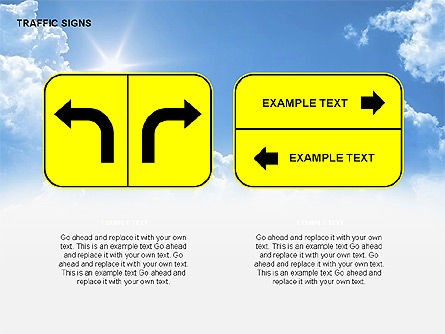 Traffic Signs Diagrams, Slide 7, 00318, Shapes — PoweredTemplate.com