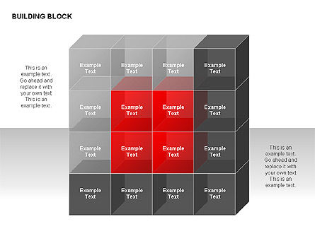 Building Block Diagrams, Slide 2, 00320, Matrix Charts — PoweredTemplate.com