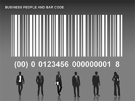 Bar Codes Diagram, Slide 10, 00322, Shapes — PoweredTemplate.com