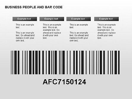 Bar Codes Diagram, Slide 11, 00322, Shapes — PoweredTemplate.com