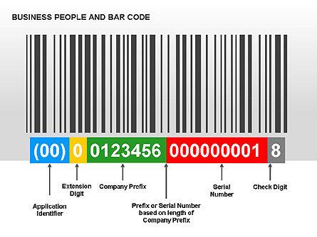 Bar Codes Diagram, Slide 5, 00322, Shapes — PoweredTemplate.com