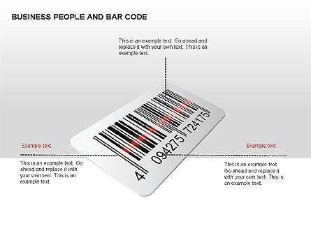 Bar Codes Diagram, Slide 6, 00322, Shapes — PoweredTemplate.com