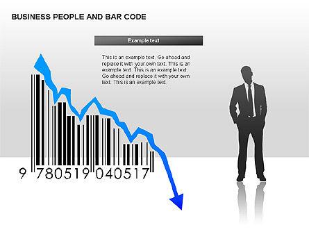 Bar Codes Diagram, Slide 7, 00322, Shapes — PoweredTemplate.com