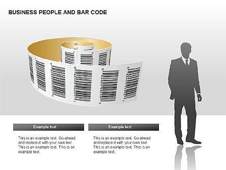 Bar Codes Diagram, Slide 8, 00322, Shapes — PoweredTemplate.com