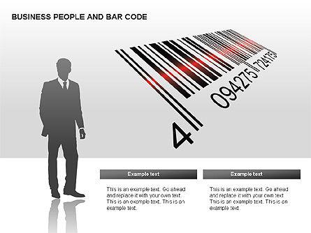 Bar Codes Diagram, Slide 9, 00322, Shapes — PoweredTemplate.com