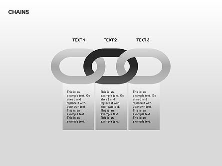 Chain Diagram, Slide 3, 00323, Stage Diagrams — PoweredTemplate.com