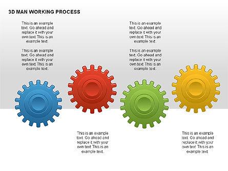 3D Man Working Process, Slide 11, 00324, Process Diagrams — PoweredTemplate.com