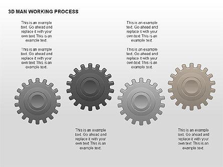 3D Man Working Process, Slide 5, 00324, Process Diagrams — PoweredTemplate.com