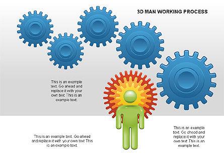 3D Man Working Process, Slide 6, 00324, Process Diagrams — PoweredTemplate.com
