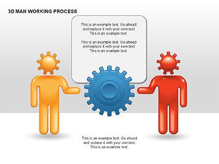 3D Man Working Process, Slide 7, 00324, Process Diagrams — PoweredTemplate.com