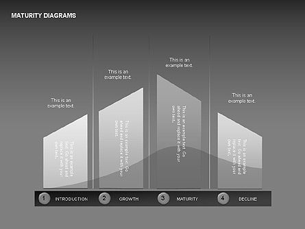 Maturity Diagrams Collection, 00325, Stage Diagrams — PoweredTemplate.com