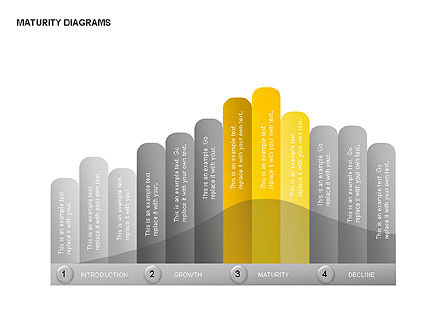 Maturity Diagrams Collection, Slide 10, 00325, Stage Diagrams — PoweredTemplate.com