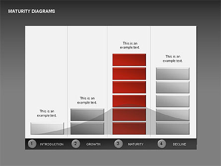 Maturity Diagrams Collection, Slide 12, 00325, Stage Diagrams — PoweredTemplate.com