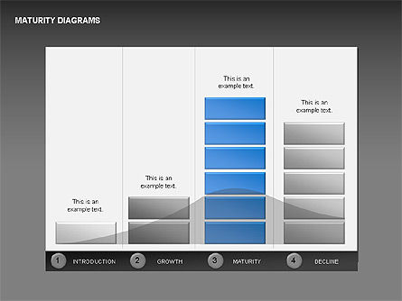 Maturity Diagrams Collection, Slide 8, 00325, Stage Diagrams — PoweredTemplate.com