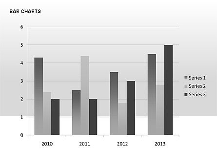 Data-Driven Bar Charts Collection, Slide 15, 00326, Stage Diagrams — PoweredTemplate.com