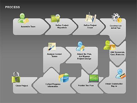Successive Steps Process Diagrams, Slide 10, 00328, Process Diagrams — PoweredTemplate.com