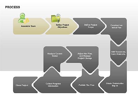 Successive Steps Process Diagrams, Slide 2, 00328, Process Diagrams — PoweredTemplate.com