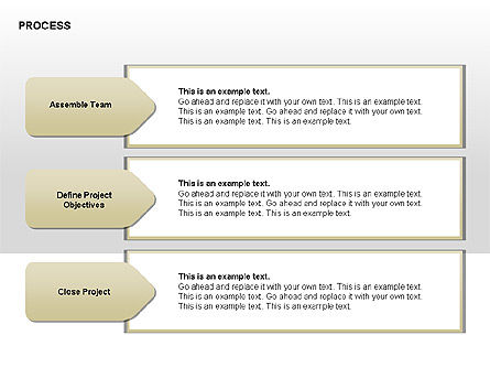 Successive Steps Process Diagrams, Slide 3, 00328, Process Diagrams — PoweredTemplate.com