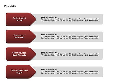 Successive Steps Process Diagrams, Slide 5, 00328, Process Diagrams — PoweredTemplate.com