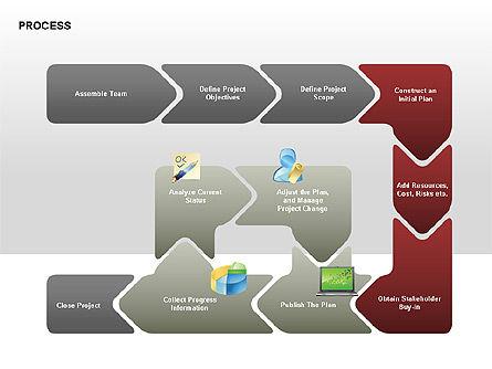 Successive Steps Process Diagrams, Slide 6, 00328, Process Diagrams — PoweredTemplate.com