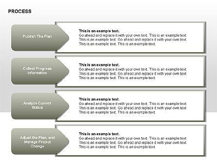 Successive Steps Process Diagrams, Slide 7, 00328, Process Diagrams — PoweredTemplate.com