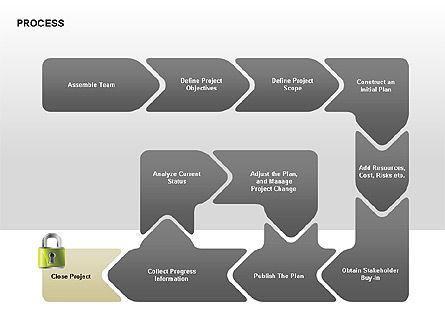 Successive Steps Process Diagrams, Slide 8, 00328, Process Diagrams — PoweredTemplate.com