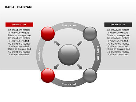 Radial Diagram, Slide 10, 00330, Stage Diagrams — PoweredTemplate.com