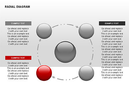 Radial Diagram, Slide 2, 00330, Stage Diagrams — PoweredTemplate.com