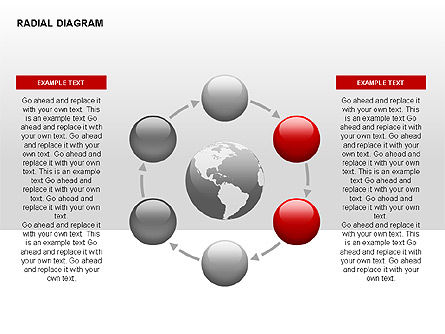 Radial Diagram, Slide 4, 00330, Stage Diagrams — PoweredTemplate.com