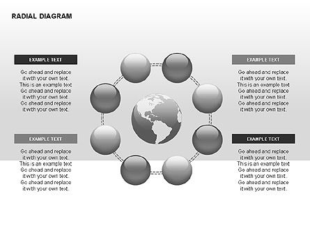 Radial Diagram, Slide 6, 00330, Stage Diagrams — PoweredTemplate.com
