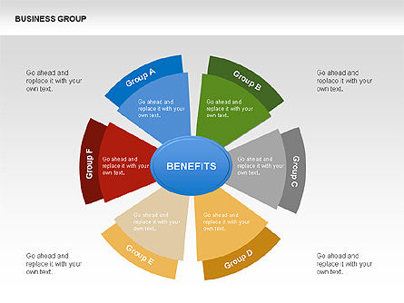 Business Group Chart Diagram, 00332, Business Models — PoweredTemplate.com