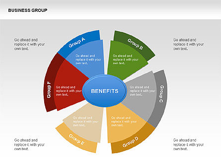 Business Group Chart Diagram, Slide 2, 00332, Business Models — PoweredTemplate.com