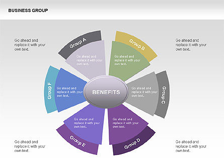 business group chart diagram for powerpoint presentations