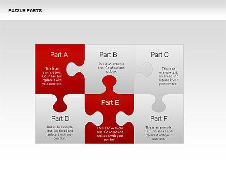 Puzzle Pieces Diagrams, Slide 3, 00335, Puzzle Diagrams — PoweredTemplate.com