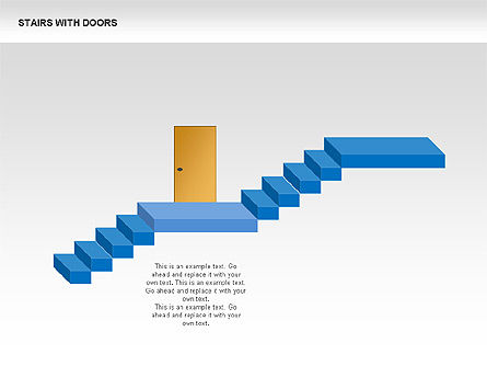 Stairs and Doors Diagrams, Slide 2, 00336, Stage Diagrams — PoweredTemplate.com