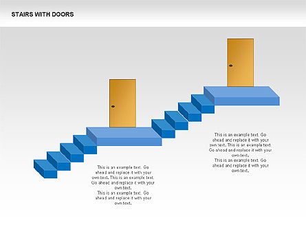 Stairs and Doors Diagrams, Slide 3, 00336, Stage Diagrams — PoweredTemplate.com