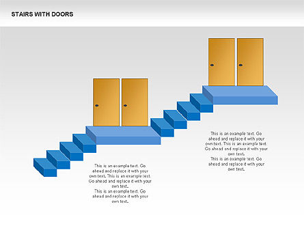 Stairs and Doors Diagrams, Slide 4, 00336, Stage Diagrams — PoweredTemplate.com