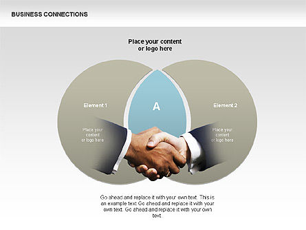 Business Connections Diagrams, Slide 10, 00339, Shapes — PoweredTemplate.com