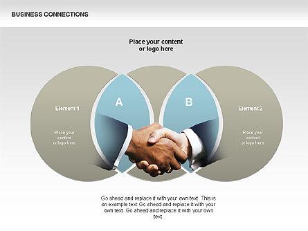 Business Connections Diagrams, Slide 11, 00339, Shapes — PoweredTemplate.com