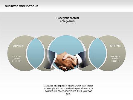 Business Connections Diagrams, Slide 12, 00339, Shapes — PoweredTemplate.com