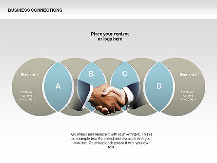 Business Connections Diagrams, Slide 13, 00339, Shapes — PoweredTemplate.com