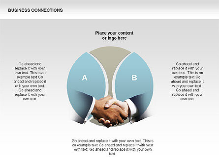 Business Connections Diagrams, Slide 14, 00339, Shapes — PoweredTemplate.com