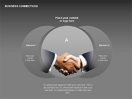 Business Connections Diagrams, Slide 15, 00339, Shapes — PoweredTemplate.com